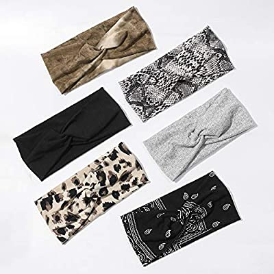 6 Pack Wide Headbands