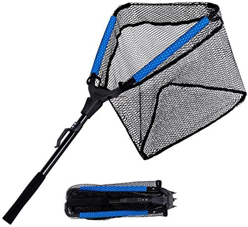 PLUSINNO Fishing Net Floating Rubber Coated Landing Net Easy Catch Release Foldable Fishing product image
