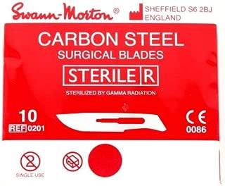 Swann Morton No.10 STERILE Curved Carbon Steel Scalpel Blades