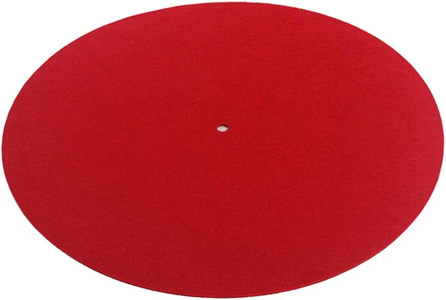 EXCEART Turntable Mat Special price Dj Slipmats 30cm Audiophile P New York Mall Pad Red Felt