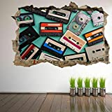 DQPCC Pegatinas Cinta de casete Cinta Arte de la pared Pegatinas Calcomanías murales Decoración del hogar