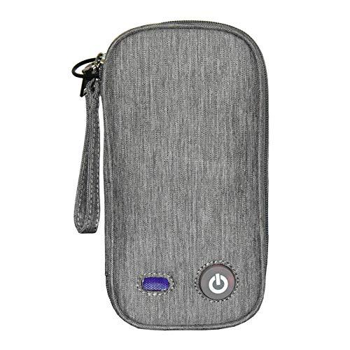 Almencla Caja esterilizadora UV portátil luz UV desinfección ropa interior esterilización caja de limpieza hogar caja de desinfección