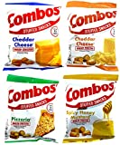 Combos Stuffed Snacks Variety Pack of 4 (6.3 Ounce Bags) – Pretzel and Cracker Variety