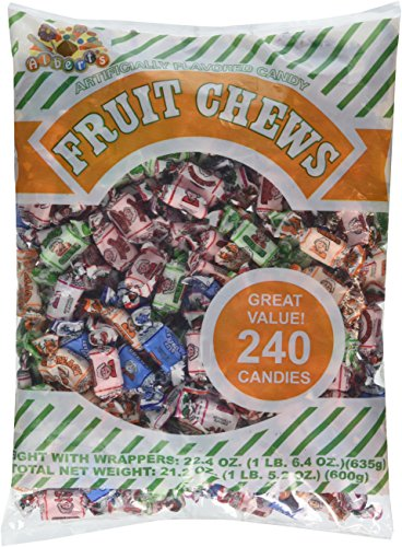 Albert's Chews Fruit Assorted Bag, 240 Piece, 21.2 Ounce