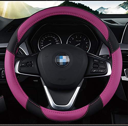 Couverture de volant de voiture en cuir microfibre auto de 15 pouces de belle conception imprimée fleurs pour femmes fille violet