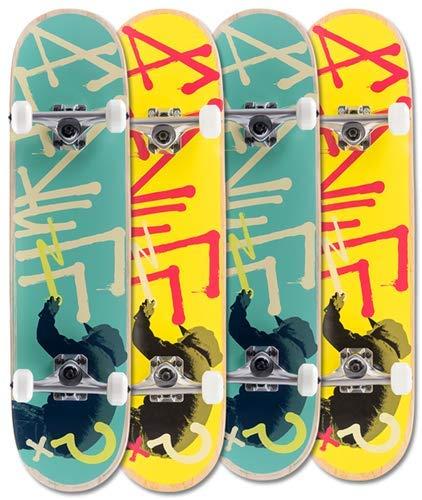 Enuff Tag Graffiti Mini Complete Skateboard Yellow Width:7.25 Width: 7.25