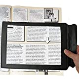 M MAGDEPO Magnifying Sheet Flat Full Page Reading Magnifier, Reading Magnifying Glass for Elderly, Low Vision. Large Magnifying glass with 2 Bonus Bookmark Magnifying Sheet