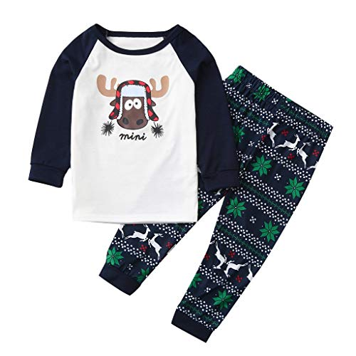 Buy Bargain Christmas Kids Outfit Set, Boys Girls Cartoon Deer Pajamas t-Shirt Tops Casual Pants Xma...
