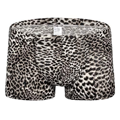 QiaTi Herren Retroshorts Boxershorts Sexy Leopard Unterwäsche Unterhosen