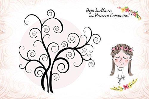 DISOK Árboles De Huellas para Comuniones Niña - Arboles Huellas para Personalizar, Personalizados, Comuniones