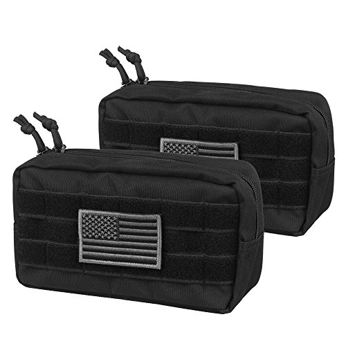 AMYIPO MOLLE Pouch Multi-Purpose Compact Tactical Waist Bags Utility Pouch (Upgrade 94.52.5 Molle Pouch (2 Pack))