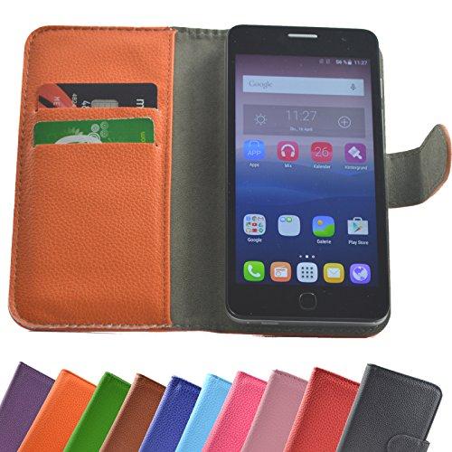 ikracase Hülle für Mobistel Cynus T6 Handy Tasche Case Schutzhülle in Orange