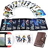 24Pcs NFC Standard Large Tag Game Cards for The Legend of Zelda Breath of The Wild BOTW, [Newest Version] Compatible with Switch/Lite Wii U - with Portable Leather Holder (Collector's Edition)
