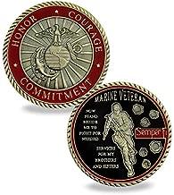USMC Veteran Challenge Coin Marine Corps Semper Fi Military Commemorative Coins