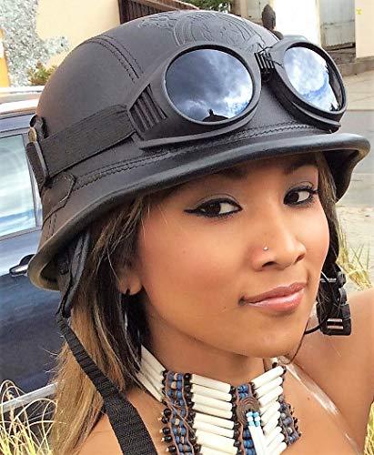 Chopperhelm - XL- incl. Brille Bikerhelm - XL- + Brille Roller-Helm + Brille Jethelm + Brille