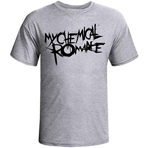 Camiseta e Babylook My Chemical Romance MCR banda infantil camisa blusa (Babylook - G, Cinza)