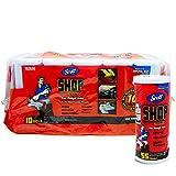 Scott Shop - Pack de 10 de 55 Hojas por Rollo, tamaño de Hoja de 27,94 x 26,41...
