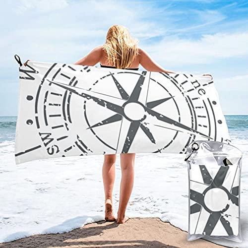 mengmeng Vintage Compass 4 toalla de secado rápido para deportes, gimnasio, viajes, yoga, camping, natación, súper absorbente, compacto, ligero, toalla de playa