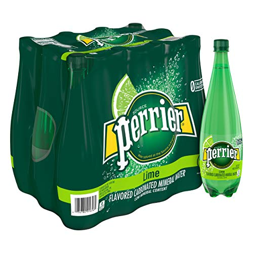 Perrier Lime Flavored Carbonated Mineral Water, 33.8 Fl Oz (12 Pack) Plastic Bottle