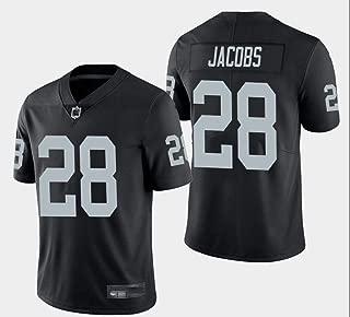Men's #28 Jacobs Jersey Oakland Josh Black Limited Player Jersey Sports Jersey T-Shirt