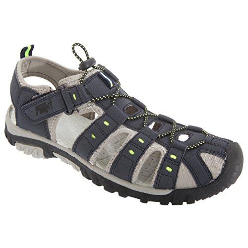 PDQ Herren Sandale/Trekking-Sandale (43 EU) (Marineblau/Limette)