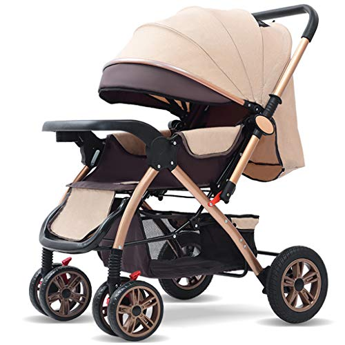 Buy Discount WANGLXST Foldable Baby Stroller, Anti-Shock High View Carriage Infant Pushchair Pram, F...