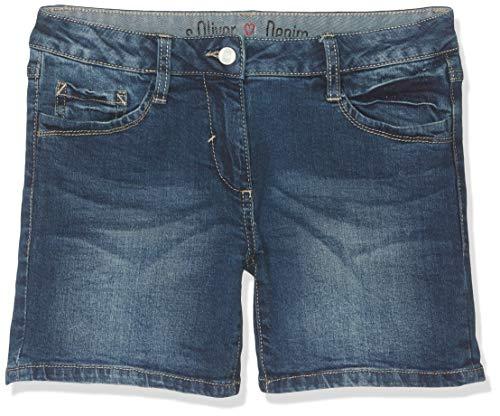 s.Oliver RED Label Mädchen Skinny Suri: Denim-Shorts Dark Blue wash den 146.REG