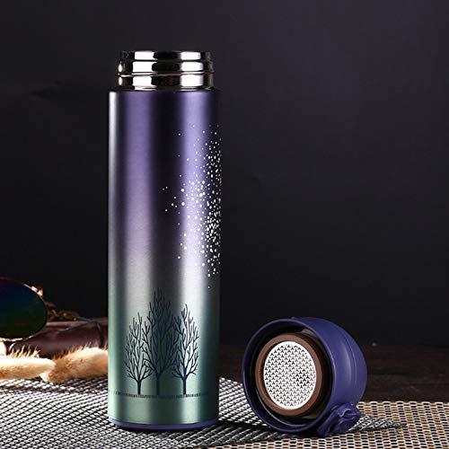 SUNHAO thermosfles Bounce cover Stofzuiger Roestvrijstaal isolatiekop lichtgewicht creatieve waterkopjes