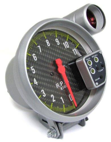 Carparts-Online 10495 Drehzahlmesser Performance + Shift Light Carbon 5 Zoll