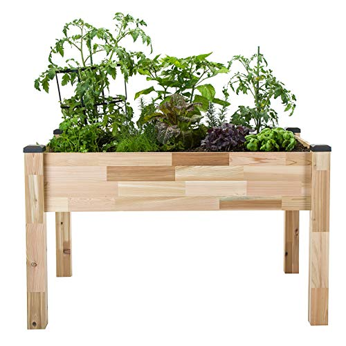 CedarCraft Self-Watering Elevated Cedar Planter (23