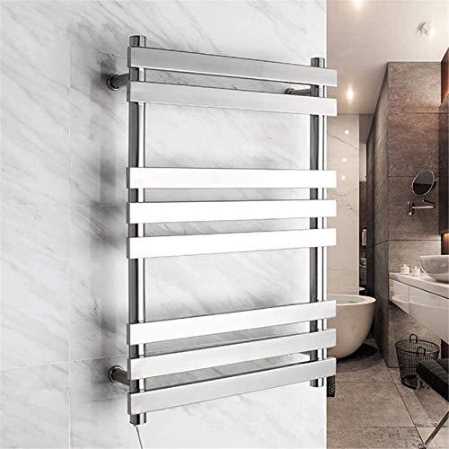 Toallero Eléctrico Bajo Consumo Calentador de toallas, toallero caliente, calentador de toalla 304 acero inoxidable de acero inoxidable con 8 barras calefactoras de toalla eléctrica accesorios para ba