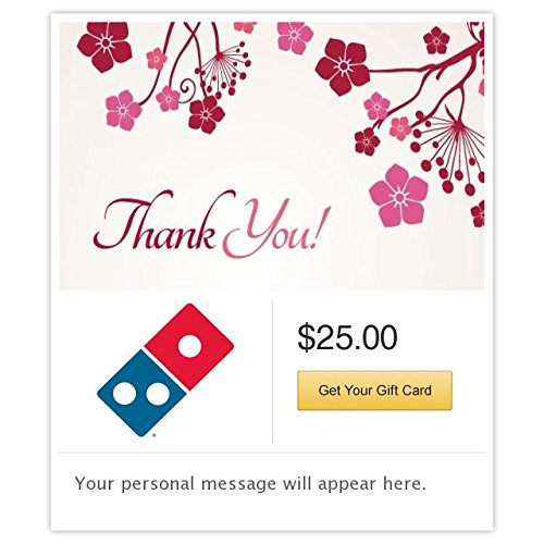 Dominos  Thank You - Flowers Gift Cards - Email Delivery