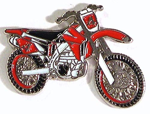 Motocross Red Trials Motorrad-Anstecker/Anstecknadel, Maße: ca. 25 mm breit, 20 mm hoch, anlaufgeschütztes Metall, sehr detaillierte Qualität, Kupplung und Anstecknadel.