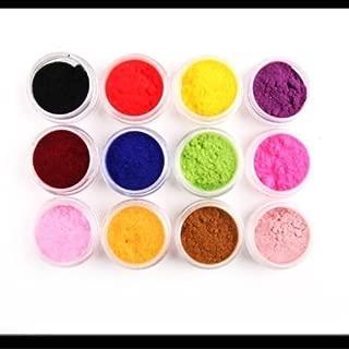 NEW 12 Color Velvet Flocking Powder for Velvet Manicure Nail Art Polish Tips