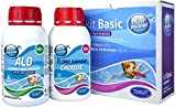TIENDA EURASIA Kit Basico de Mantenimiento para Piscinas Pequeñas - Especialmente Piscinas Desmontables e Hinchables - 500 gr Cloro y 500 gr Algicida