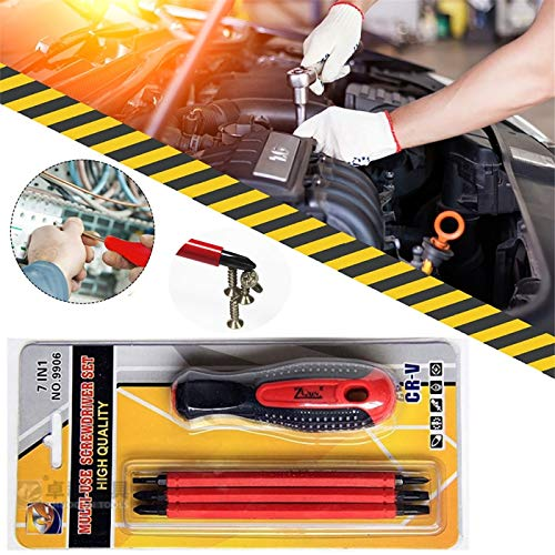 SDFSX High Quallty Electrician-specific screwdriver,Insulated Screwdriver Set ,Manual Screwdriver Set,Insulated Interchangeable screwdriver,1000V Insulated Screwdriver Set CR-V Magnetic (3 Tools)…