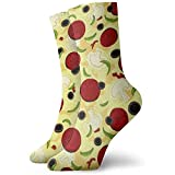 Be-ryl Chaussettes de compressionChaussettes décontractées, Chaussettes Longues habillées pour Unisexe - Motif de Garnitures de Pizza