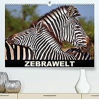 ZEBRAWELT (Premium, hochwertiger DIN A2 Wandkalender 2022, Kunstdruck in Hochglanz): Tierisch gestreift durch Afrika (Monatskalender, 14 Seiten )