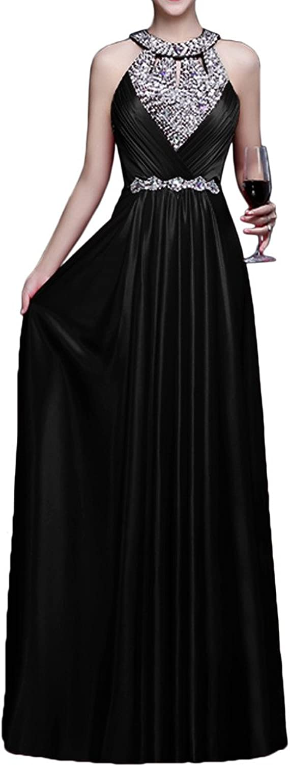 Avril Dress Glamgoldus Formal Halter Charmuse Ball Open Back Sheath Party Gown New