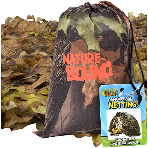 Cheap Nature Bound Camouflage Net for Kids, 9-Feet by 5-Feet, for Camping, Hiking, Indoor and Outdoo...
