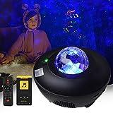 Serra LED Sternenhimmel Projektor Lampe - Galaxy Light für Kinder und Erwachsene Zimmer Dekoration - Galaxy Projector mit Fernbedienung und Timer - Nachtlicht Bluetooth Lautsprecher