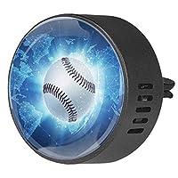 2pcsアロマセラピーディフューザーカーエッセンシャルオイルディフューザーベントクリップ野球ボールが世界地図上を飛んでいる