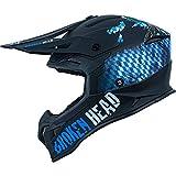 Broken Head Bavarian Pariot MX-2 Cross-Helm - Sportlicher Motorradhelm - Helm mit Bayern Lifestyle Design, Blau/Schwarz (XXL (63-64 cm))