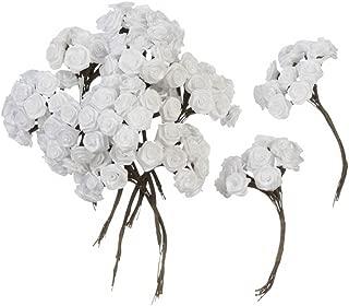 Darice B3573-01 Ribbon Rose, 1/2-Inch, White, 144-Pack