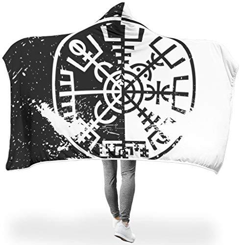 LAOAYI Manta de Forro Polar de la Marca Viking SerieHome, con Capucha, Muy Suave y cálida, para TV y Ordenador, para Adultos, poliéster, Blanco, para Galaxy S3