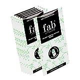FablittleBag mini sacs poubelle hygiéniques biodégradables (pour tampons et serviettes hygiéniques) Kit complet pour 6 mois (6 paquets de 20 mini sacs poubelle et la pochette discrète)