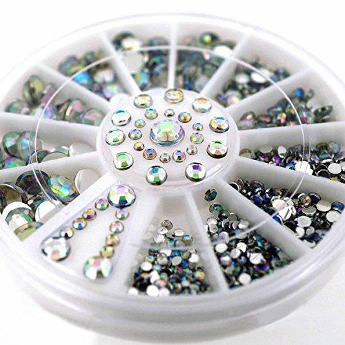 Phantomsky 3D Uñas Acrílico Rueda de Diamante de Imitación - Piedra Colores - Decoraciones Profesionales del Arte Mezclan los Accesorios de la Decoración del Clavo del Diseño