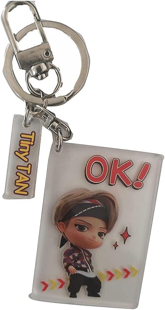 luoyou KPOP Bangtan Boys BTS Tiny Tan YOU ARE THE BEST Key Chain Keyring