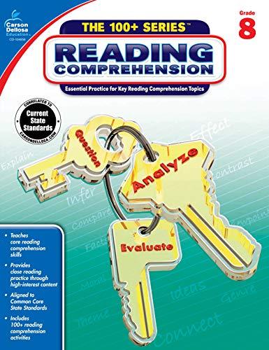 Carson Dellosa | The 100 Series: Reading Comprehension for Grade 8 Workbook | Language Arts, 128pgs