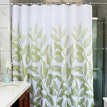 decorative windows for bathrooms.htm amazon com manggou leaves fabric shower curtain  waterproof  manggou leaves fabric shower curtain